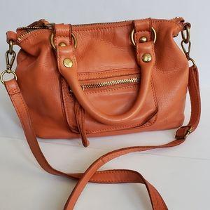 Linea Pelle collection orange crossbody purse